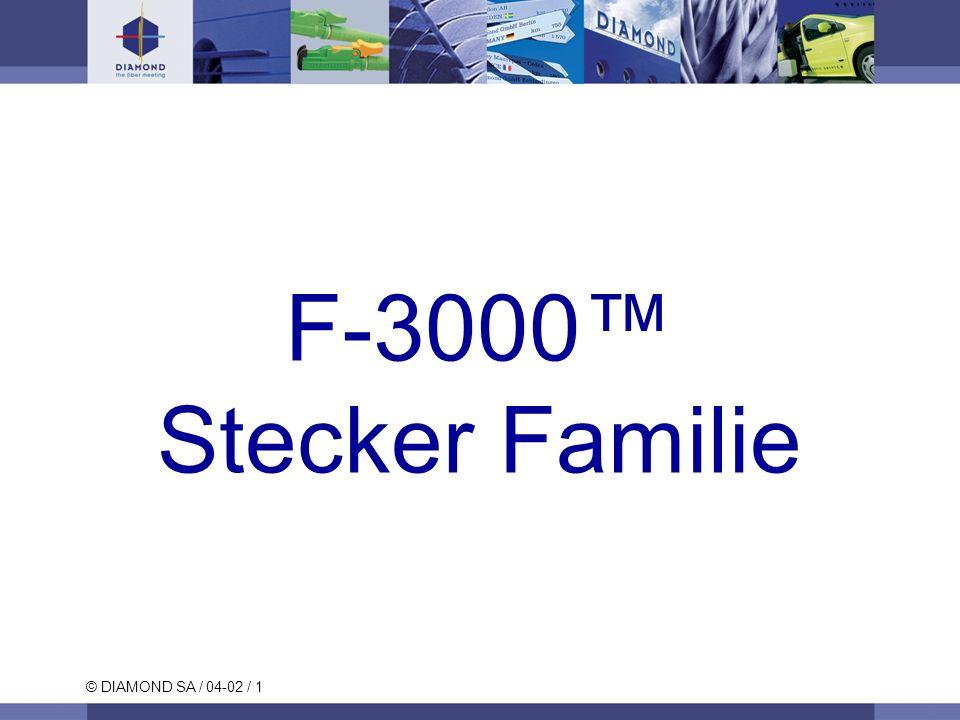 © DIAMOND SA / 04-02 / 1 F-3000 Stecker Familie