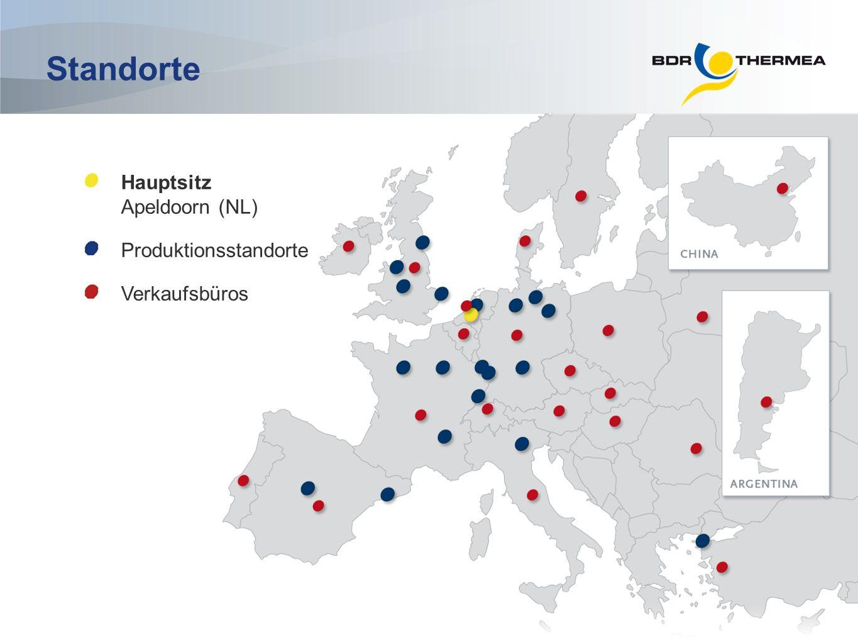 Hauptsitz Apeldoorn (NL) Produktionsstandorte Verkaufsbüros Standorte