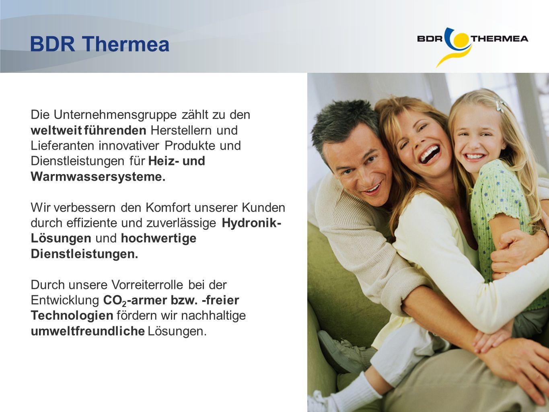 Kennzahlen der Gruppe Drittgrößter Hersteller von Heizsystemen in Europa Führende Marken auf mindestens 6 großen europäischen Wirtschaftsmärkten Jahresumsatz von rund 1,800 Milliarden Euro (2010) EBITDA > 240 Millionen Euro (2010) Ca.