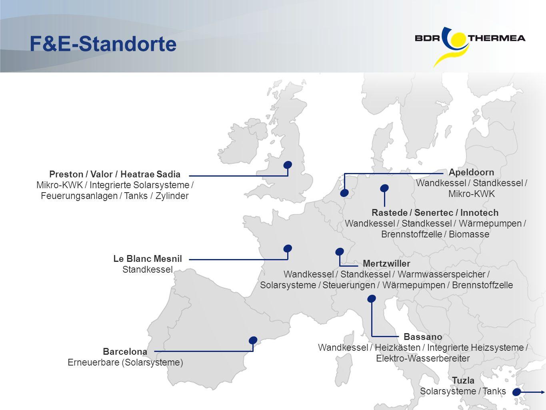 Apeldoorn Wandkessel / Standkessel / Mikro-KWK Preston / Valor / Heatrae Sadia Mikro-KWK / Integrierte Solarsysteme / Feuerungsanlagen / Tanks / Zylin