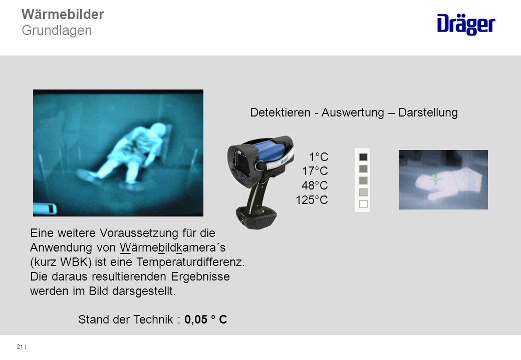 21 | Eine weitere Voraussetzung für die Anwendung von Wärmebildkamera´s (kurz WBK) ist eine Temperaturdifferenz. Die daraus resultierenden Ergebnisse