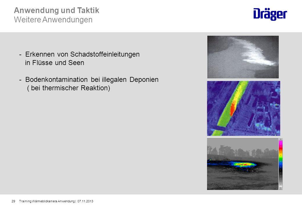 Training Wärmebildkamera Anwendung | 07.11.201329 - Erkennen von Schadstoffeinleitungen in Flüsse und Seen - Bodenkontamination bei illegalen Deponien