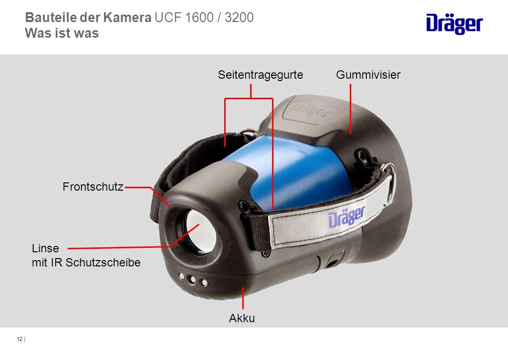 12 | Frontschutz Linse mit IR Schutzscheibe GummivisierSeitentragegurte Akku Bauteile der Kamera UCF 1600 / 3200 Was ist was
