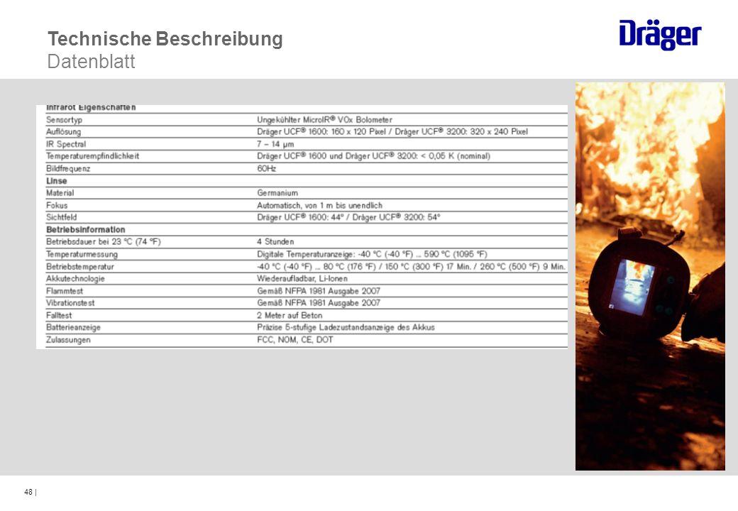 48 | Technische Beschreibung Datenblatt