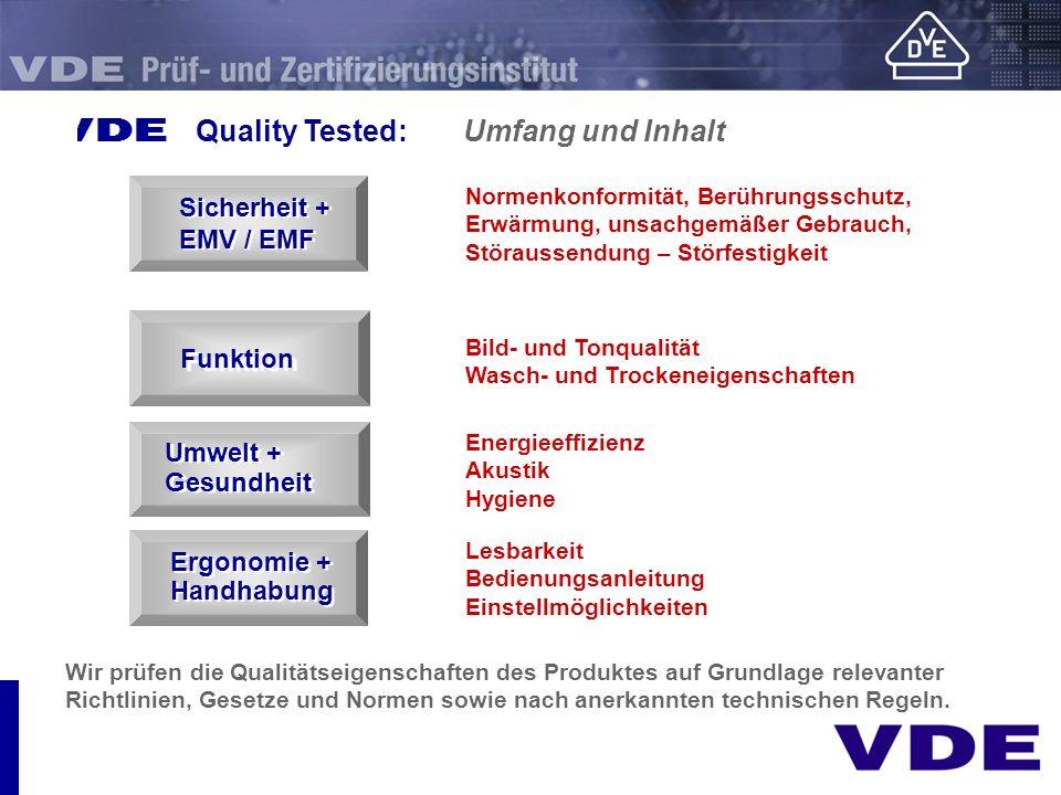 Wir prüfen die Qualitätseigenschaften des Produktes auf Grundlage relevanter Richtlinien, Gesetze und Normen sowie nach anerkannten technischen Regeln