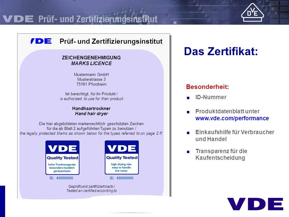V Prüf- und Zertifizierungsinstitut V Prüf- und Zertifizierungsinstitut ZEICHENGENEHMIGUNG MARKS LICENCE Mustermann GmbH Musterstrasse 3 75181 Pforzhe