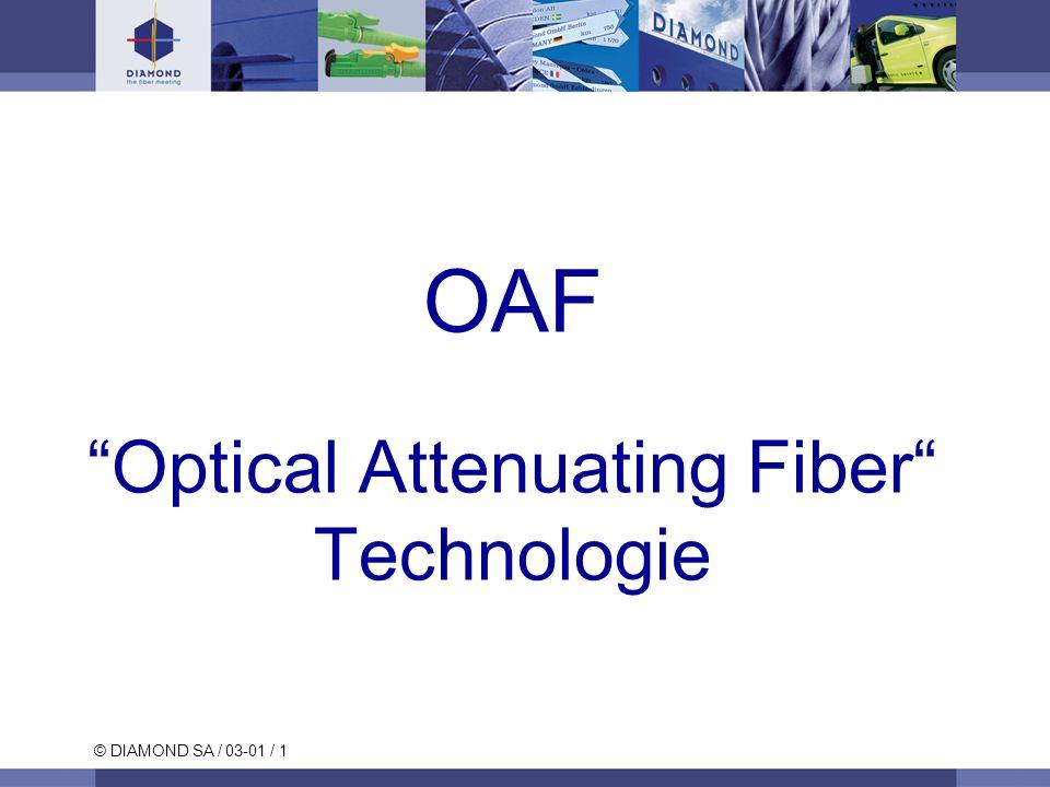 © DIAMOND SA / 03-01 / 1 OAF Optical Attenuating Fiber Technologie