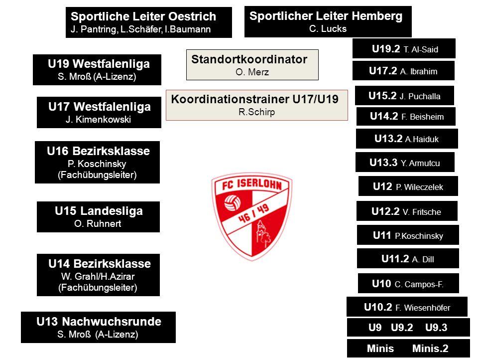 Sportliche Leiter Oestrich J. Pantring, L.Schäfer, I.Baumann Sportlicher Leiter Hemberg C. Lucks U19 Westfalenliga S. Mroß (A-Lizenz) U17 Westfalenlig