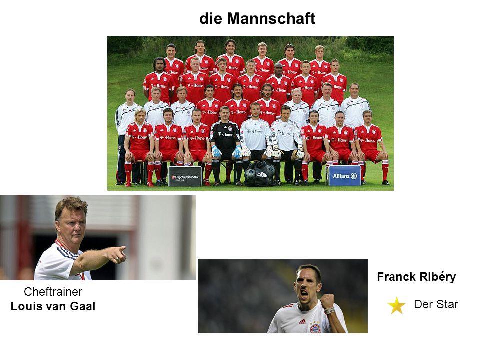 die Mannschaft Cheftrainer Louis van Gaal Franck Ribéry Der Star
