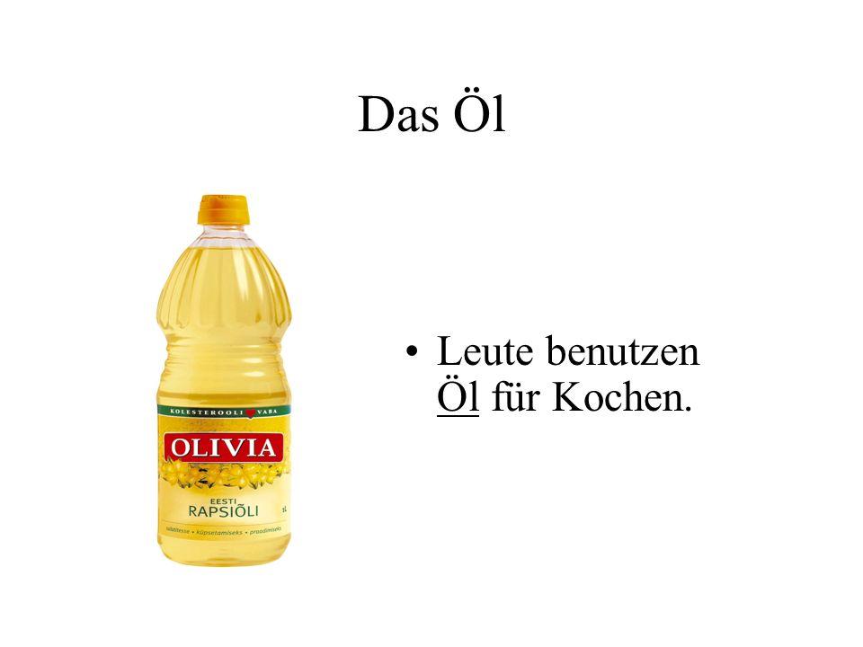 Das Öl Leute benutzen Öl für Kochen.