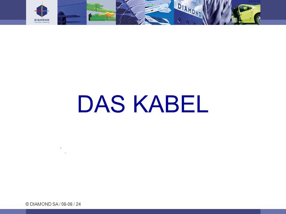 © DIAMOND SA / 08-08 / 24 DAS KABEL