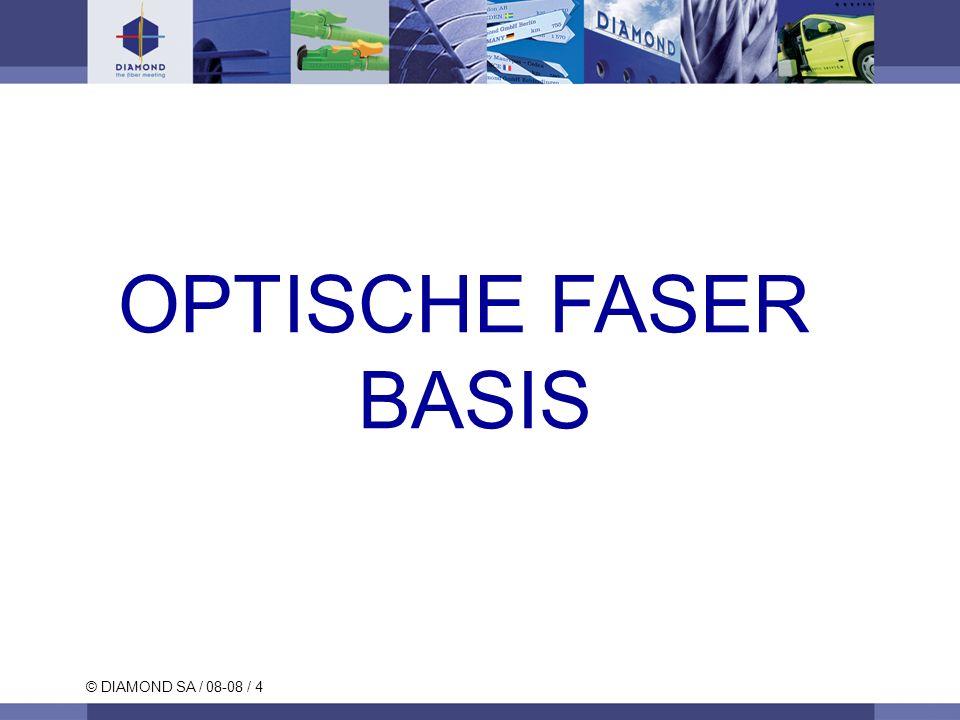 © DIAMOND SA / 08-08 / 4 OPTISCHE FASER BASIS