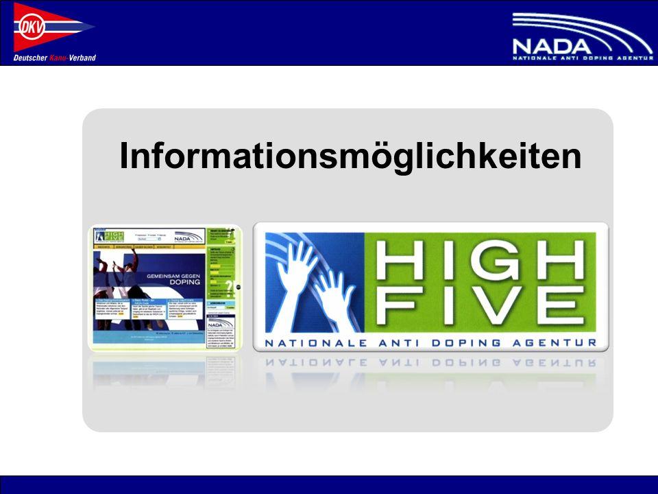 © NADA 2008 Informationsmöglichkeiten