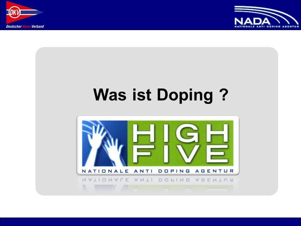 © NADA 2008 -Als Kader-Athlet muss klar sein: –Bewusstsein: Ich unterliege als Wettkampfsportler dem Anti Doping-Reglement .