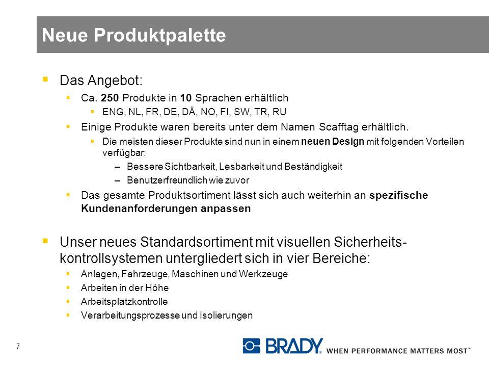 Neue Produktpalette Das Angebot: Ca.