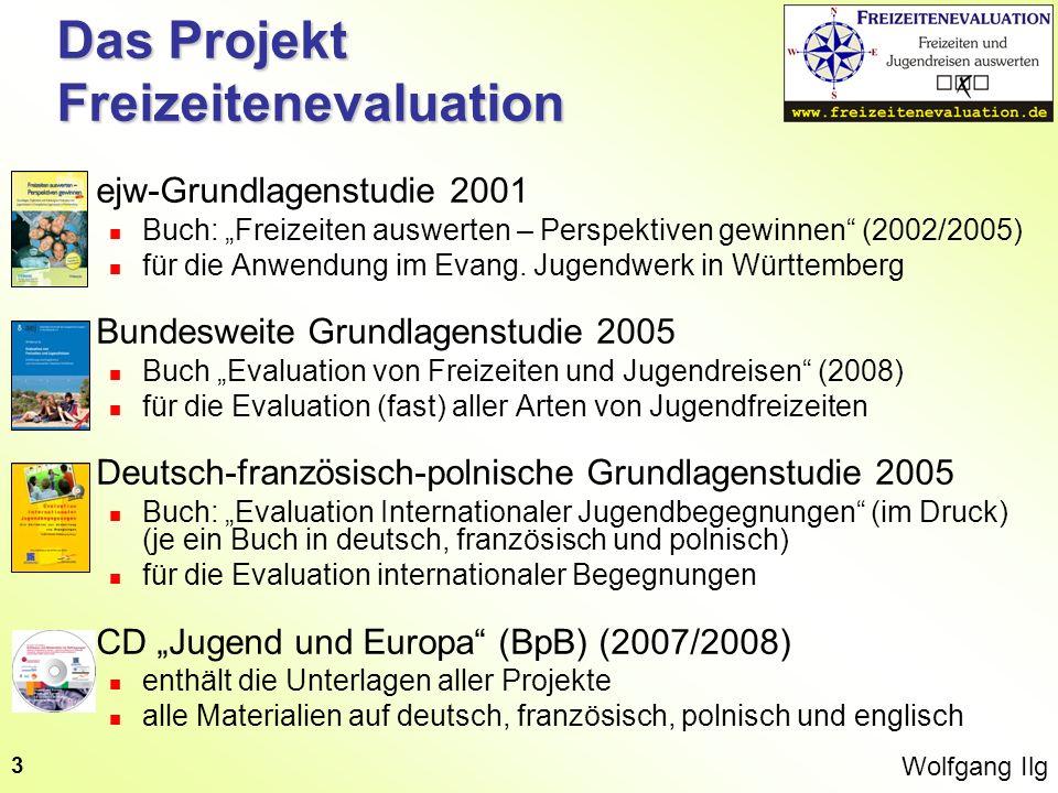 Wolfgang Ilg 3 Das Projekt Freizeitenevaluation ejw-Grundlagenstudie 2001 Buch: Freizeiten auswerten – Perspektiven gewinnen (2002/2005) für die Anwen