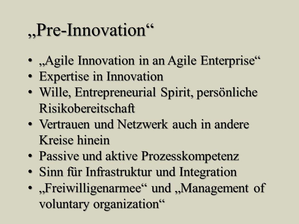 Pre-Innovation Agile Innovation in an Agile Enterprise Agile Innovation in an Agile Enterprise Expertise in Innovation Expertise in Innovation Wille,