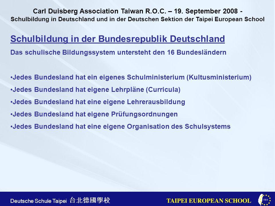Taipei European School Apr.21st, 2005 Deutsche Schule Taipei Thank you.