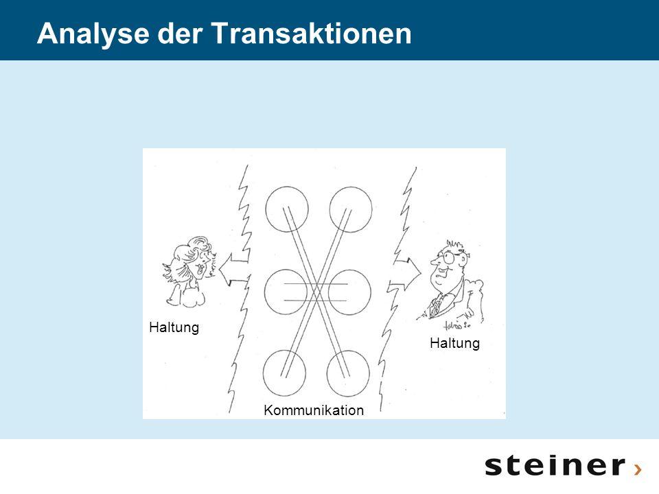 Analyse der Transaktionen Haltung Kommunikation