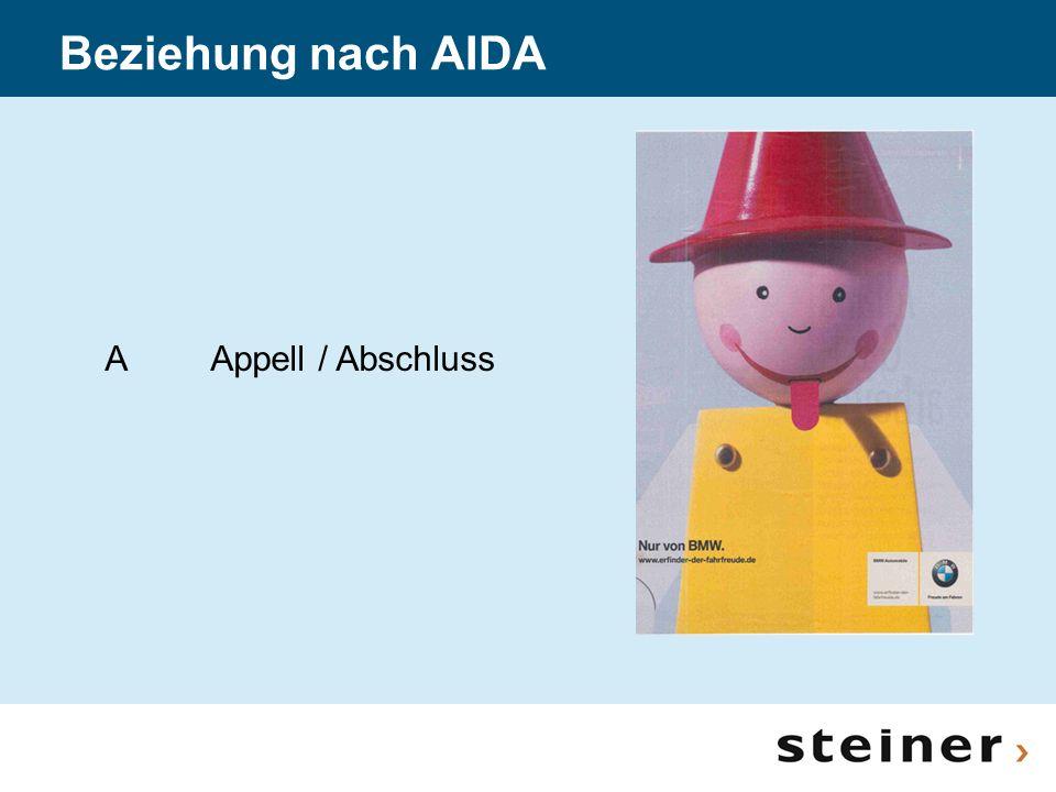 Beziehung nach AIDA AAppell / Abschluss