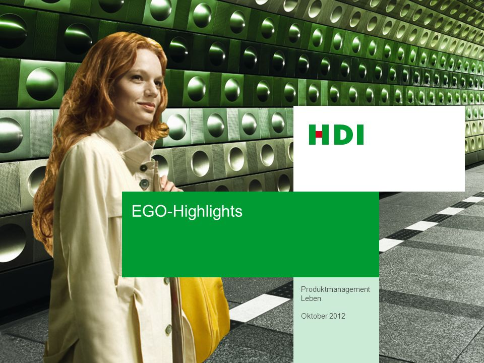 EGO-Highlights Produktmanagement Leben Oktober 2012