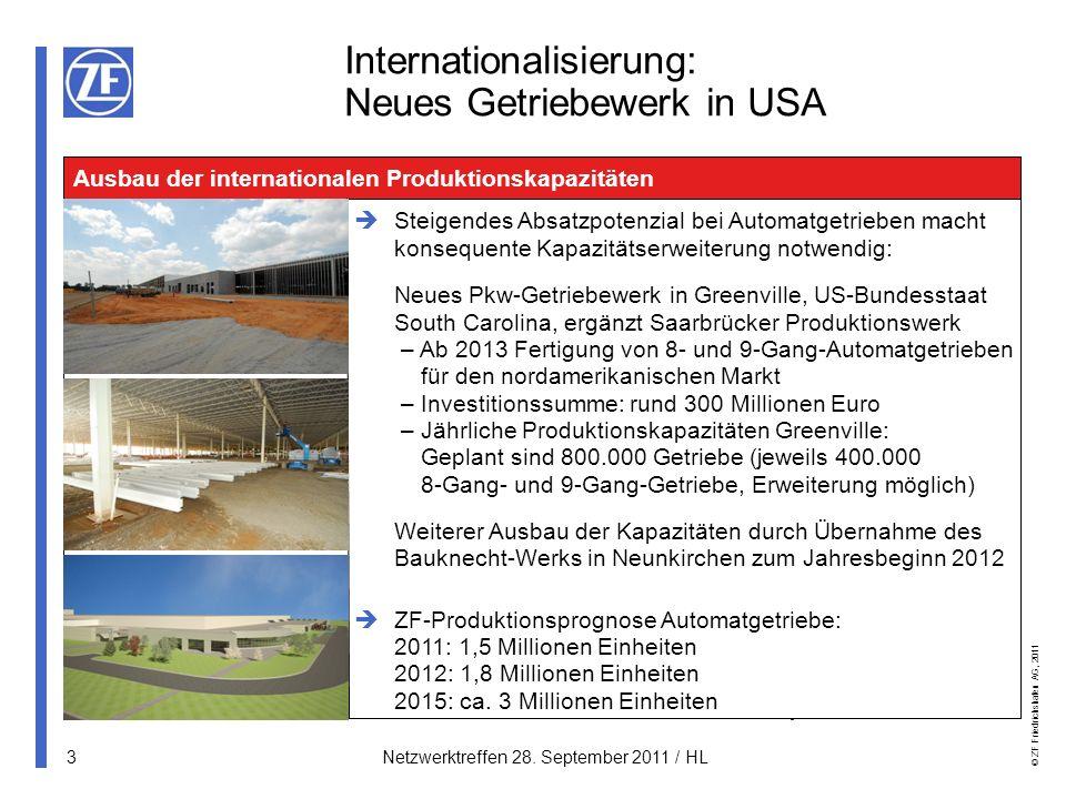 © ZF Friedrichshafen AG, 2011 14Netzwerktreffen 28.