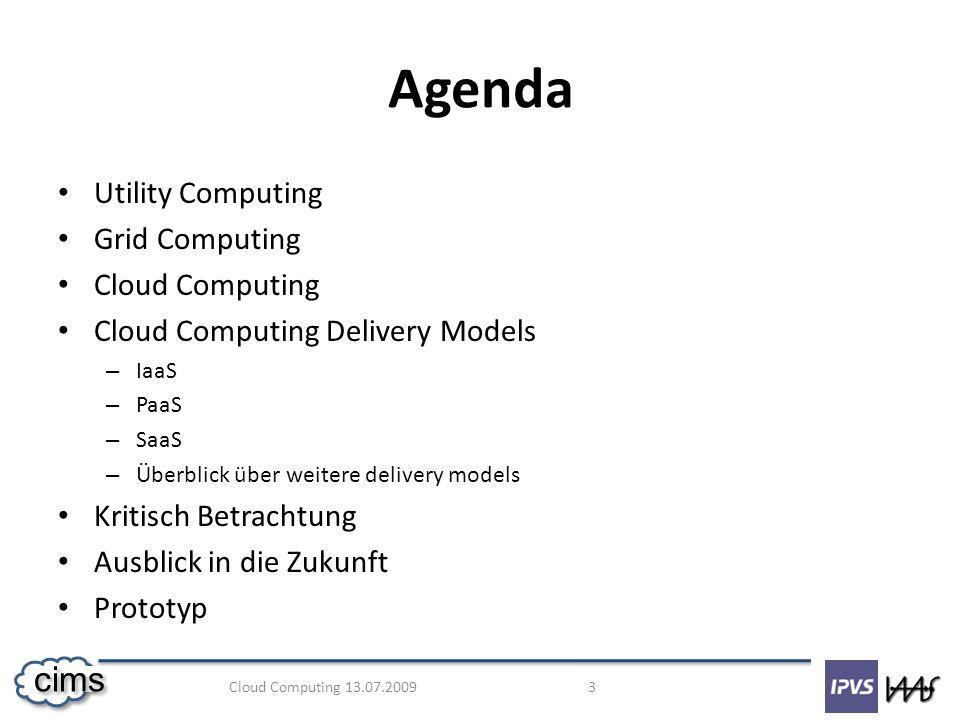 Cloud Computing 13.07.2009 24 cims Fragen? ? ?