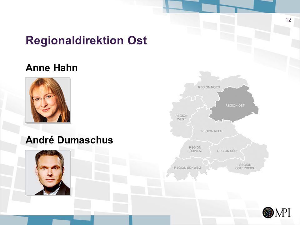 12 Regionaldirektion Ost Anne Hahn André Dumaschus
