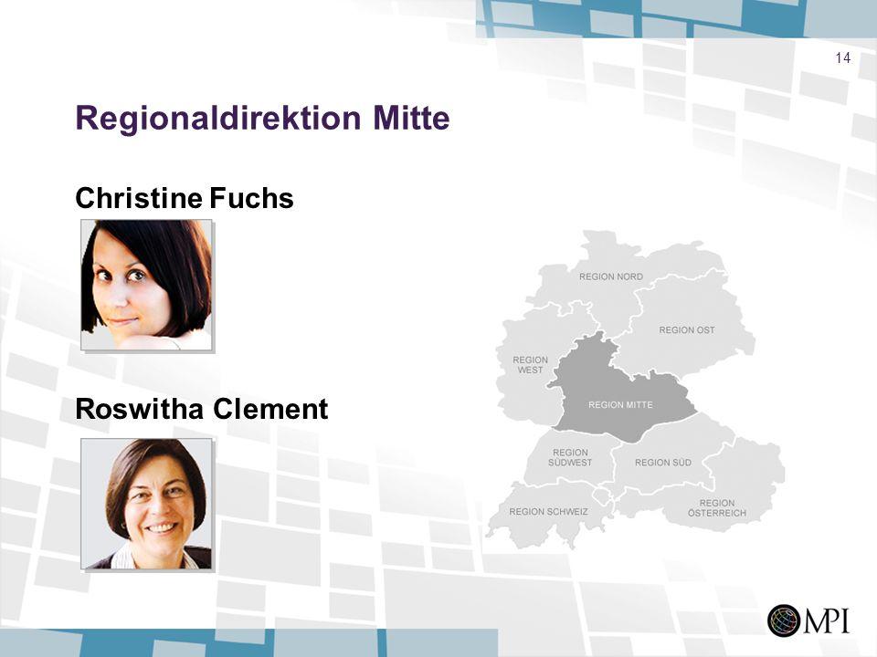 14 Regionaldirektion Mitte Christine Fuchs Roswitha Clement