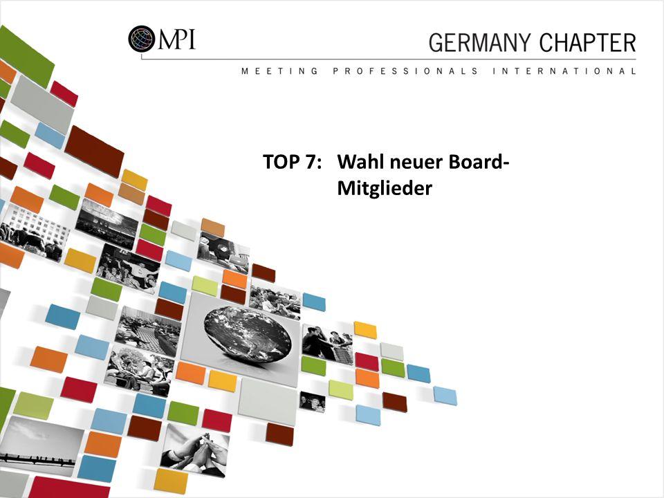45 TOP 7: Wahl neuer Board- Mitglieder