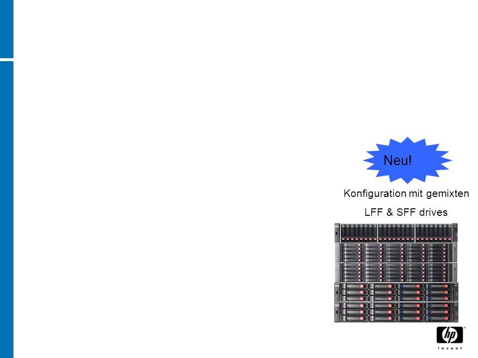 Neu! Konfiguration mit gemixten LFF & SFF drives