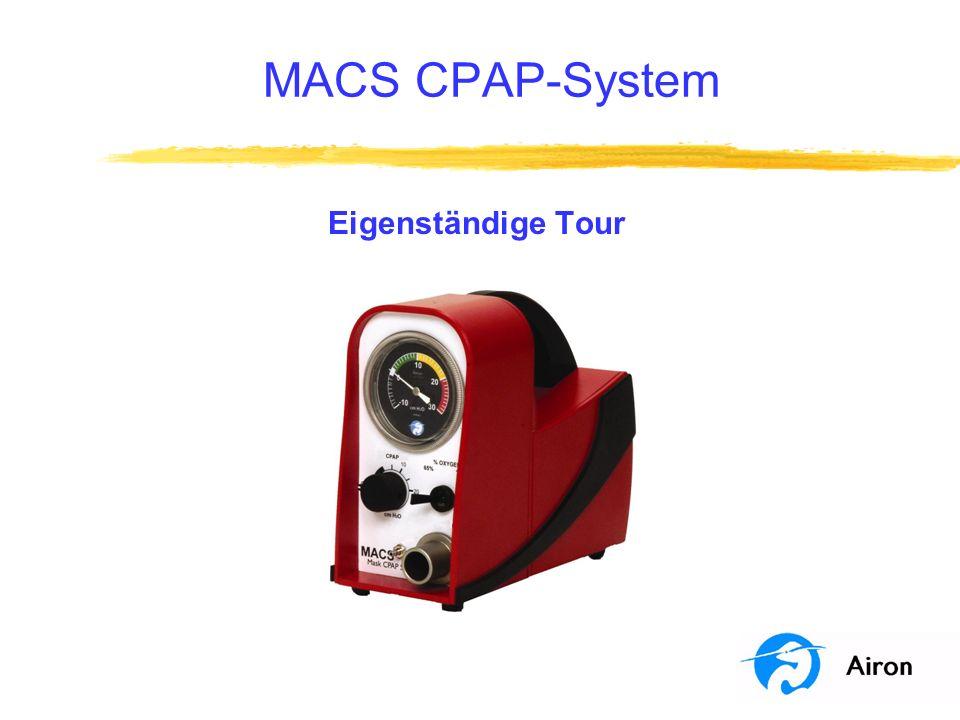 Programmziele Dieses Programm ist eine eigenständige Tour des MACS CPAP-Systems.