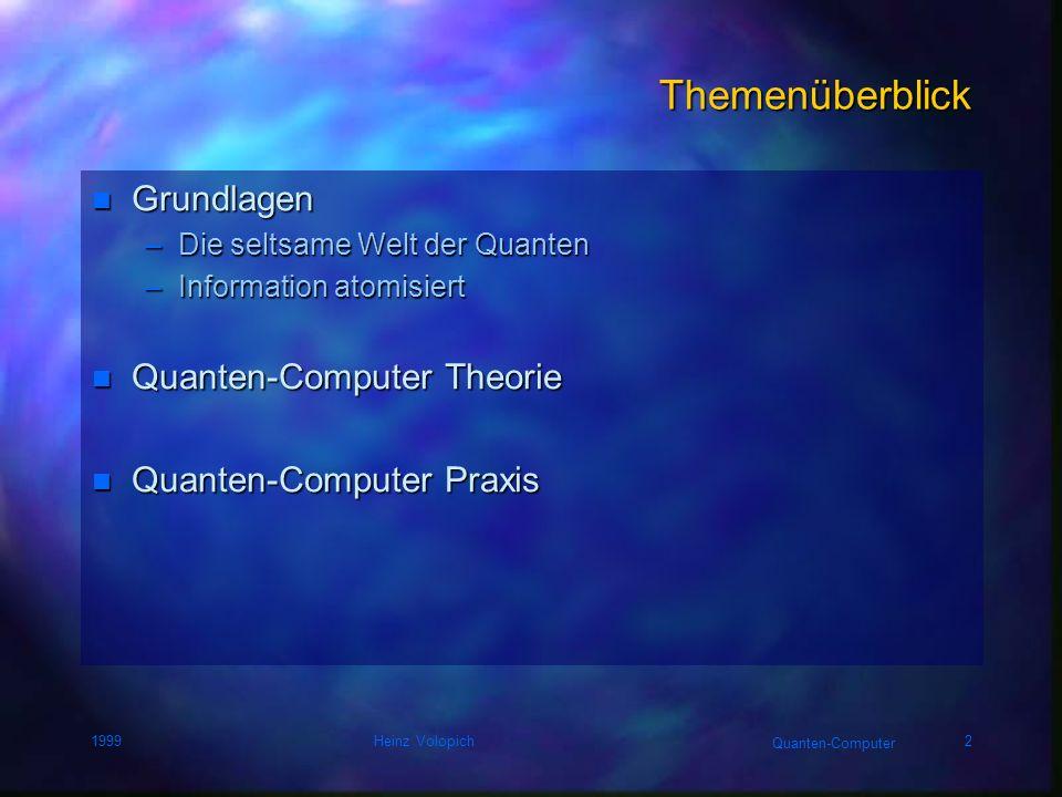 Quanten-Computer 1999Heinz Volopich12 Orbitale