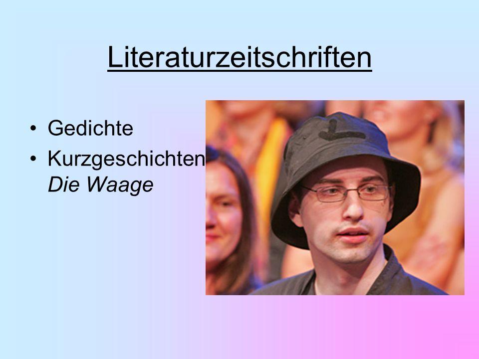 Gedichte Kurzgeschichten Die Waage Literaturzeitschriften