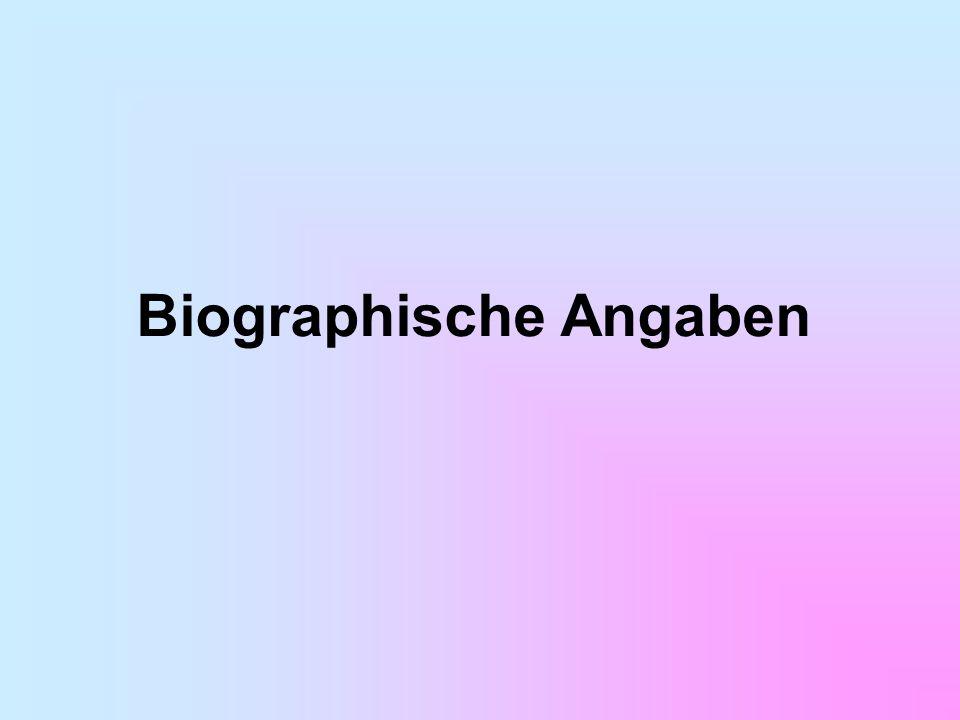 Biographische Angaben