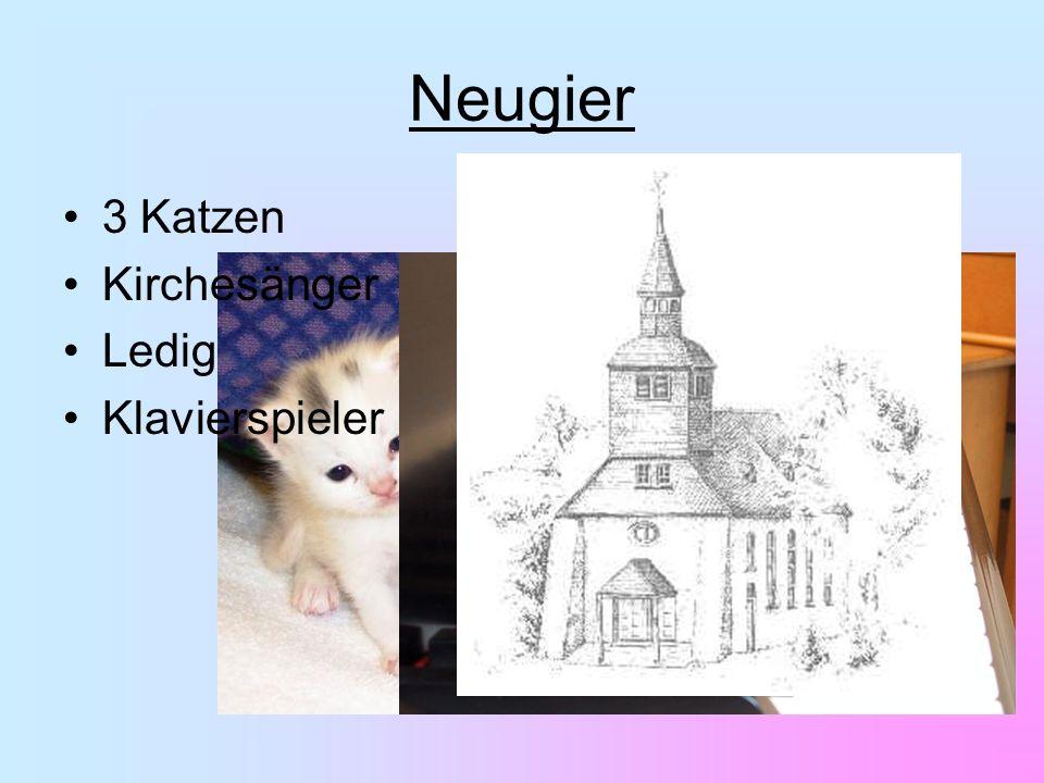 3 Katzen Kirchesänger Ledig Klavierspieler