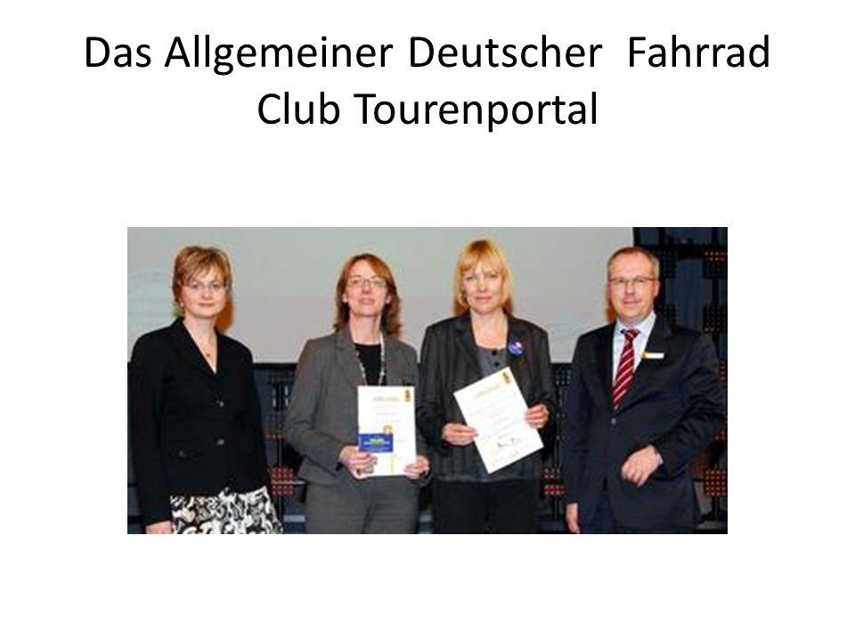 Das ADFC-Tourenportal (Allgemeiner Deutscher Fahrrad Club Tourenportal) hat den Innovationspreis des 9.