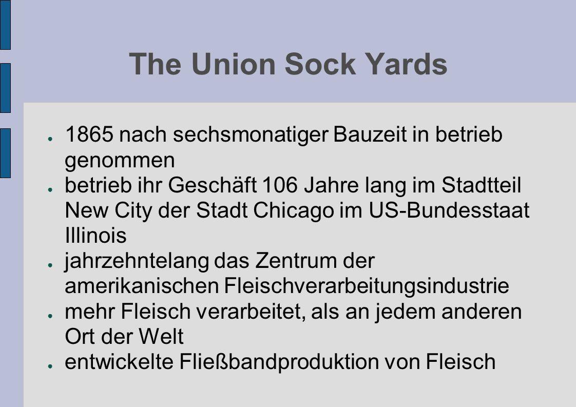 The Union Sock Yards 1865 nach sechsmonatiger Bauzeit in betrieb genommen betrieb ihr Geschäft 106 Jahre lang im Stadtteil New City der Stadt Chicago