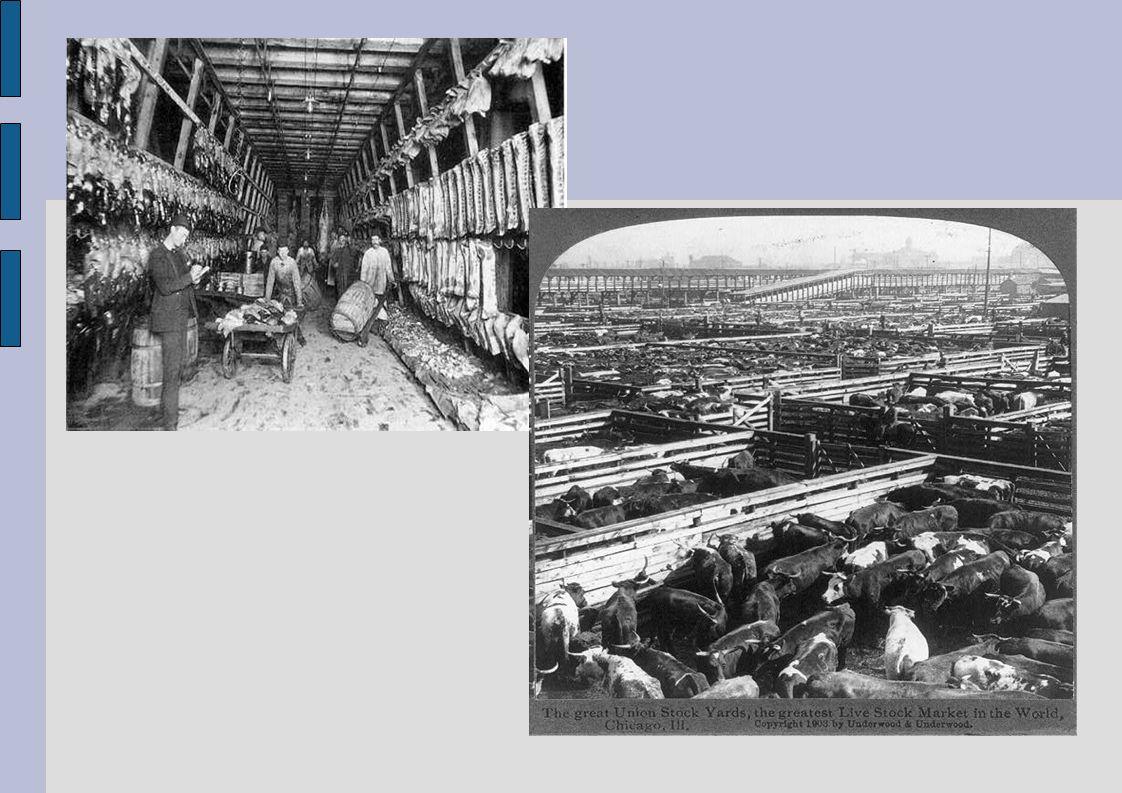 Das Ende der Union Stock Yards Transportsystem nach dem zweiten Weltkrieg strengere Hygiene- und Umweltauflagen auflagen Einbruch des Fleischexports aufgrund eines zu großem internationalen Wettbewerb 30.