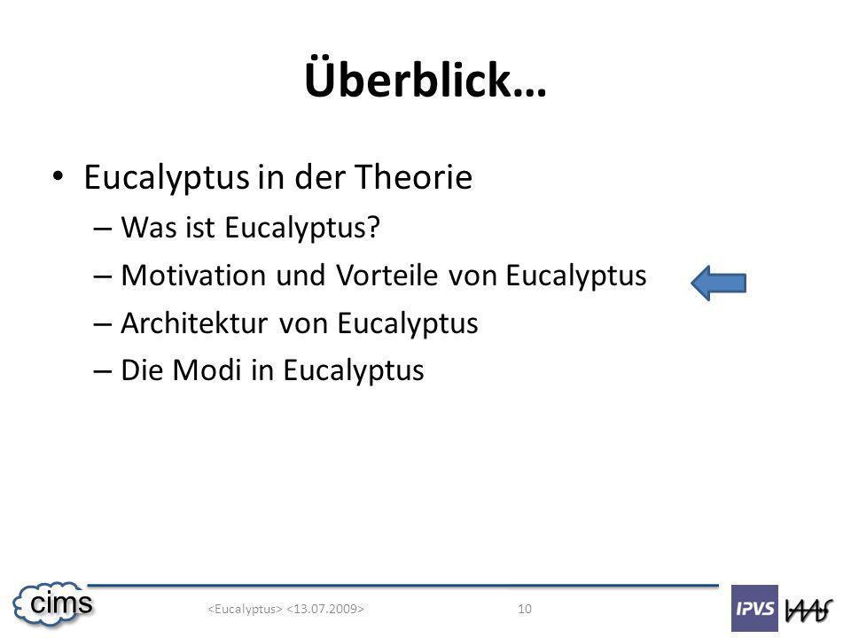 10 cims Überblick… Eucalyptus in der Theorie – Was ist Eucalyptus.