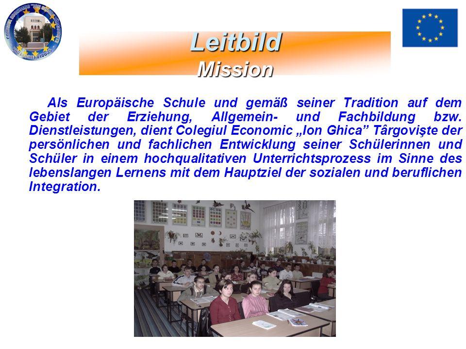 Als Europäische Schule und gemäß seiner Tradition auf dem Gebiet der Erziehung, Allgemein- und Fachbildung bzw. Dienstleistungen, dient Colegiul Econo