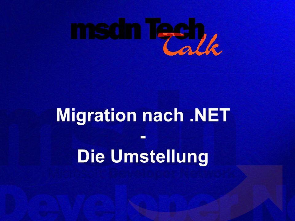 Migration nach.NET - Die Umstellung