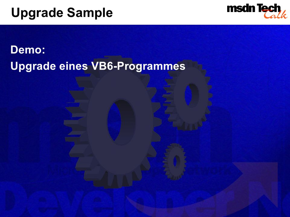 Upgrade Sample Demo: Upgrade eines VB6-Programmes