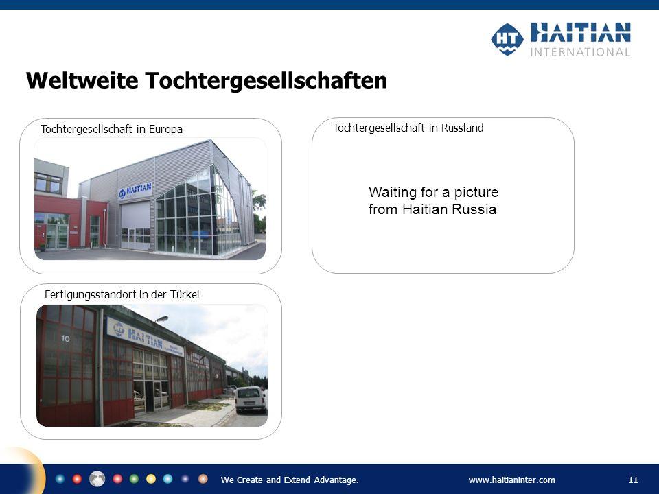 We Create and Extend Advantage.www.haitianinter.com 11 Weltweite Tochtergesellschaften Tochtergesellschaft in Europa Tochtergesellschaft in Russland F
