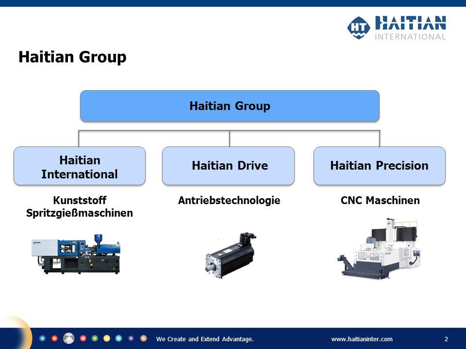 We Create and Extend Advantage.www.haitianinter.com 2 Haitian Group Haitian International Haitian DriveHaitian Precision Kunststoff Spritzgießmaschine