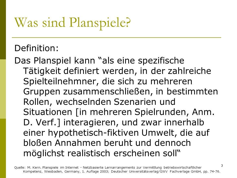 Was sind Planspiele? Definition: Das Planspiel kann als eine spezifische Tätigkeit definiert werden, in der zahlreiche Spielteilnehmner, die sich zu m