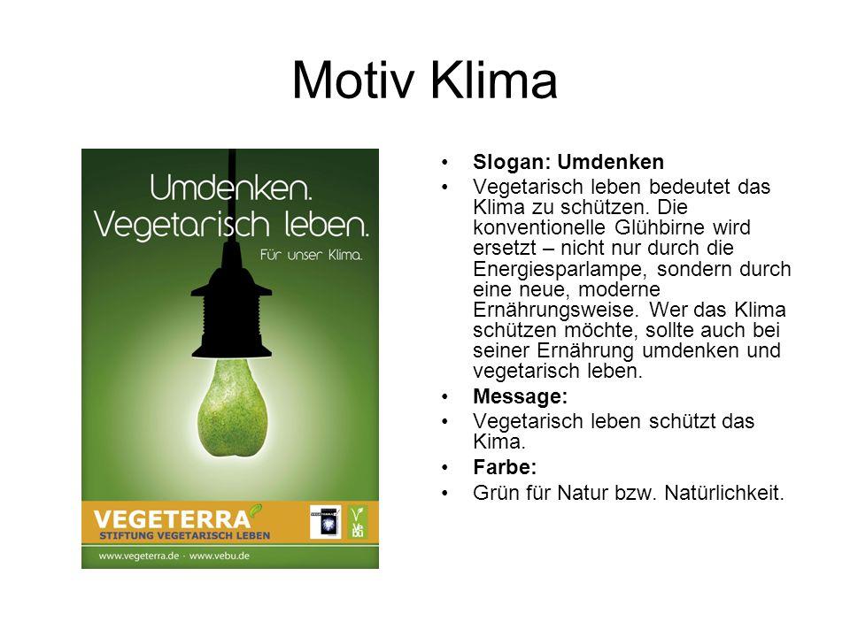 Motiv: Gesundheit Slogan: Energie tanken vegetarisch leben heißt aktiv etwas für die Gesundheit zu tun.