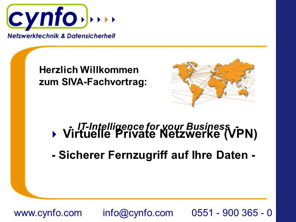 Virtuelle Private Netzwerke (VPN) - Sicherer Fernzugriff auf Ihre Daten - - IT-Intelligence for your Business - www.cynfo.cominfo@cynfo.com0551 - 900