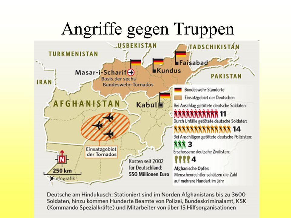 Angriffe gegen Truppen