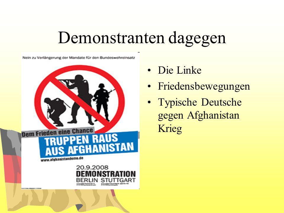Demonstranten dagegen Die Linke Friedensbewegungen Typische Deutsche gegen Afghanistan Krieg